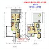 公爵岛·别墅D、Df二层、三层平面户型图